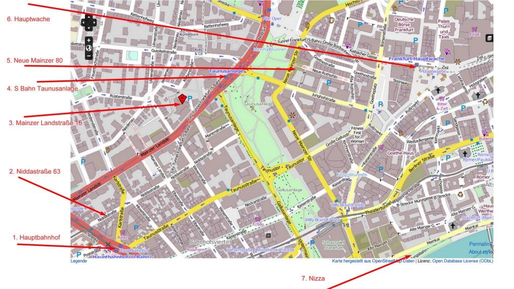 Frankfurt Innenstadt Karte Route Rev 1
